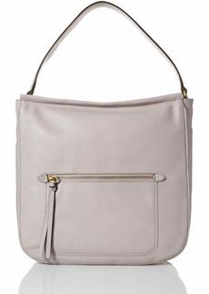 Cole Haan Jade Leather Bucket HOBO Bag dove