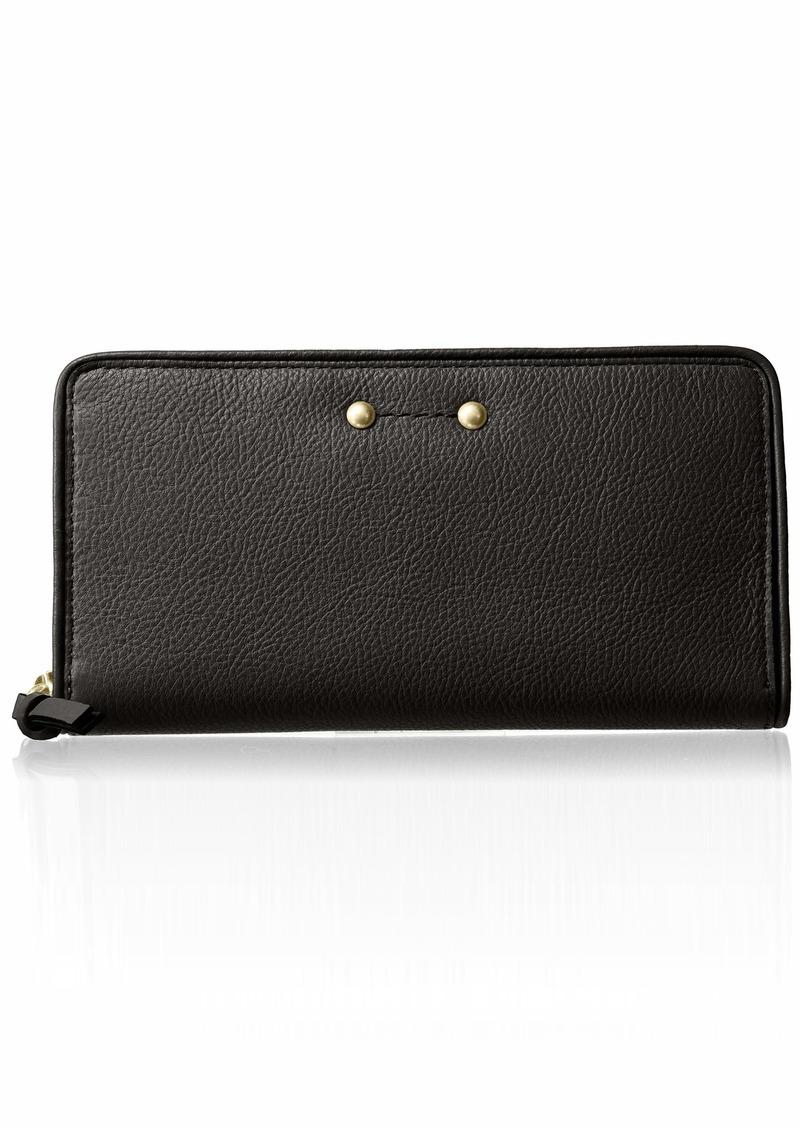 Cole Haan Jade Leather Continental Zip Around Wallet black