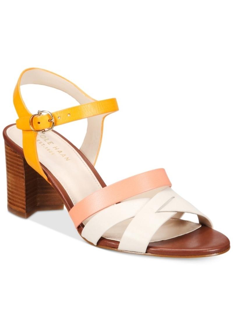 a9dc929050b Cole Haan Cole Haan Jianna Strappy Block-Heel Sandals Women s Shoes ...