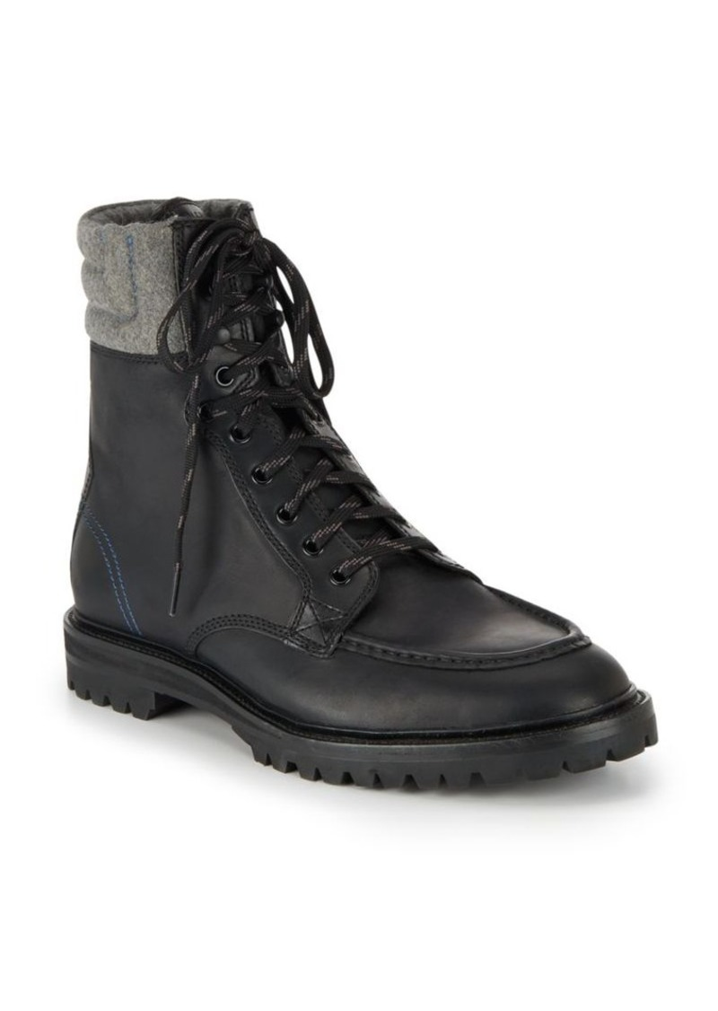 Cole Haan Judson Leather Tall Lace-Up Boots