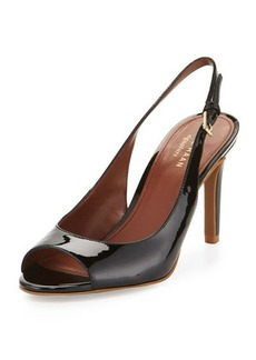 Cole Haan Juliana Patent Slingback Peep-Toe Pump