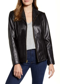 Cole Haan Lambskin Leather Jacket