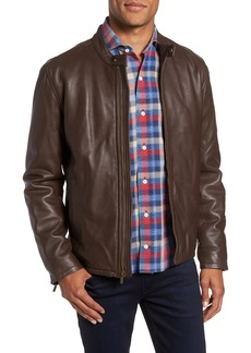Cole Haan Lambskin Leather Moto Jacket