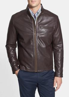 Cole Haan Lambskin Leather Moto Jacket (Online Only)