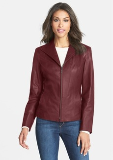 Cole Haan Lambskin Leather Scuba Jacket