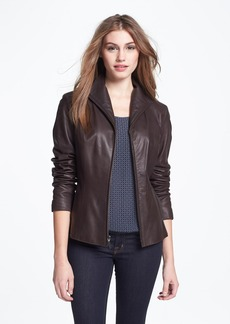 Cole Haan Lambskin Leather Scuba Jacket (Regular & Petite)