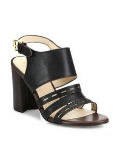 Cole Haan Lavelle Leather Block Heel Slingbacks