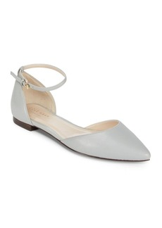 Cole Haan Leather Ankle-Strap Ballet Flats