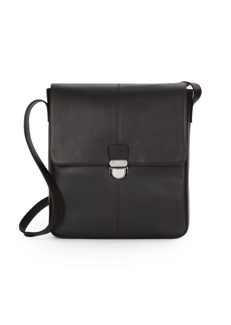 Cole Haan Solid Leather Shoulder Bag
