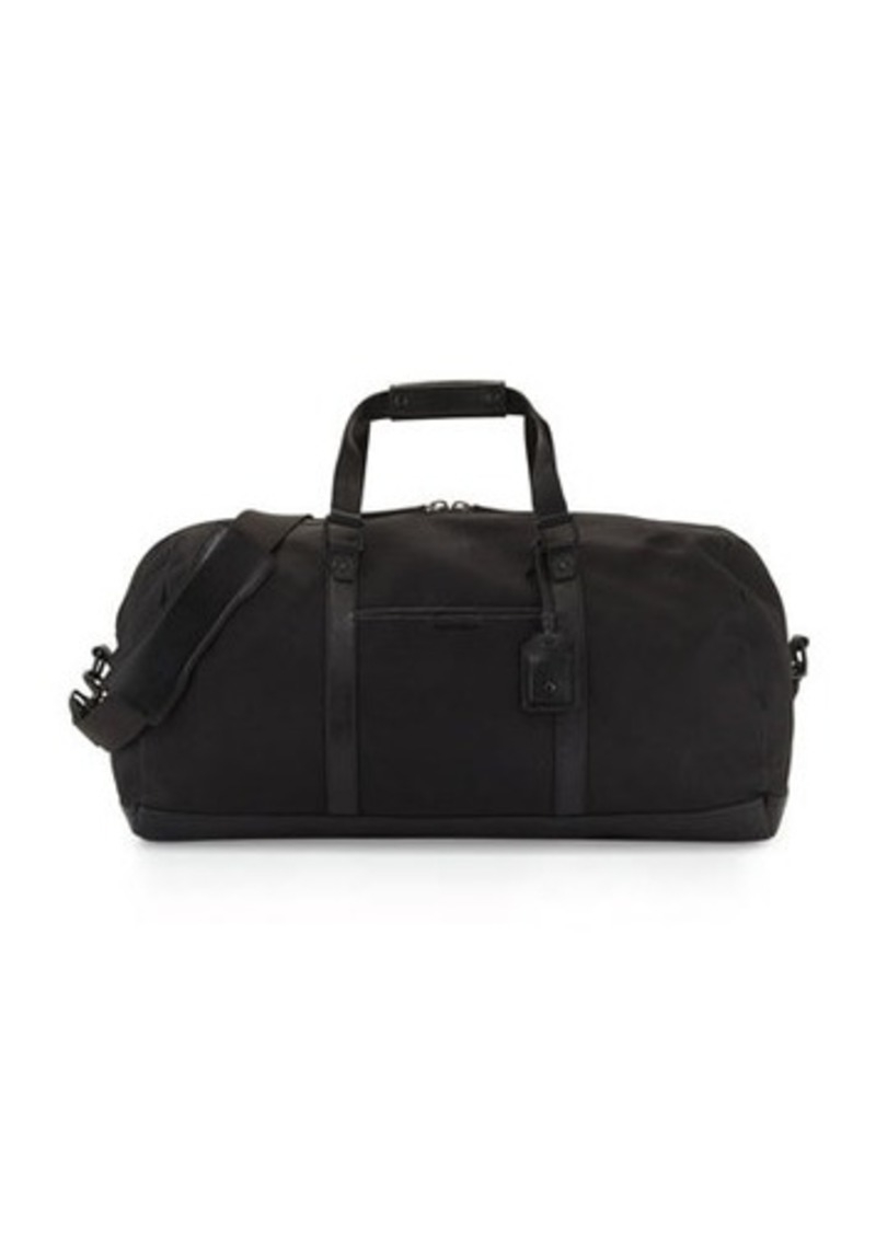 Cole Haan Leather Trim Canvas Duffle Bag