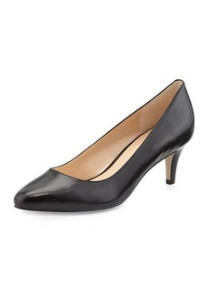 Cole Haan Lena Low-Heel Leather Pump