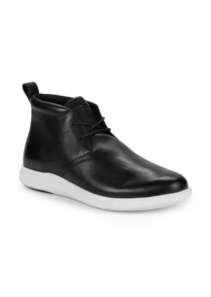 Cole Haan Logo Leather Ankle Boots