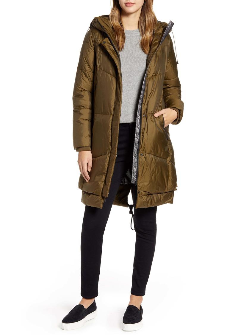 Cole Haan Long Hooded Puffer Coat
