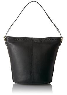 Cole Haan Loralie Whipstitch Bucket Hobo black