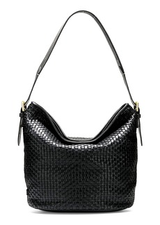 Cole Haan Loralie Woven Leather Bucket Hobo