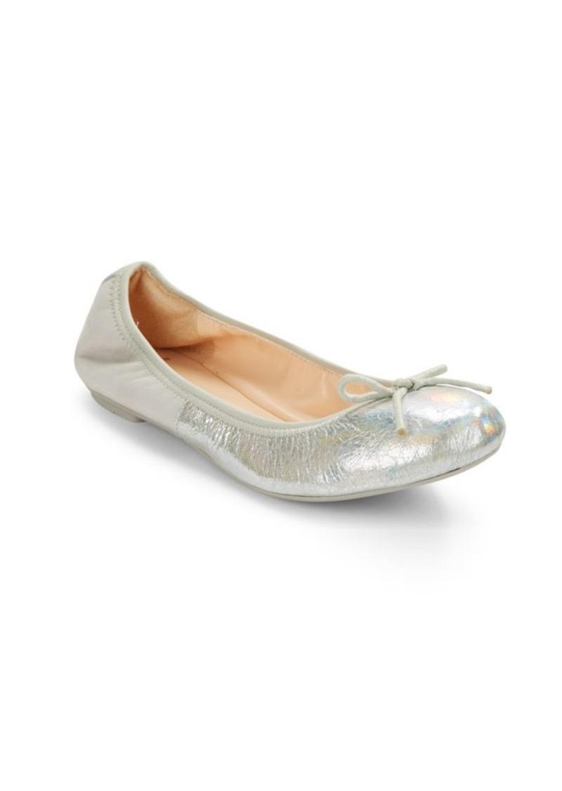 Cole Haan Manhattan Demi Matte & Metallic Leather Ballet Flats