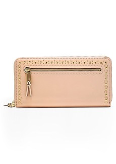 Cole Haan Marli Studded Metallic Leather Continental Wallet