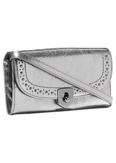Cole Haan Marli Studded Metallic Leather Convertible Smartphone Clutch