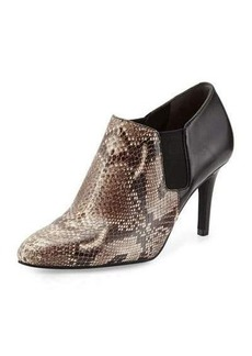 Cole Haan Maxfield Natural Snake-Print Leather Bootie