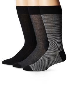 Cole Haan Men's 3 Pack Even Stripe Crew Socks