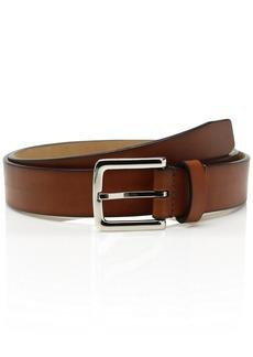 Cole Haan Men's 32mm Rounded Edge Belt british tan/polished nickel