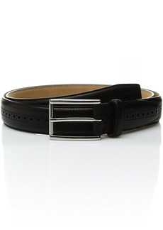 Cole Haan Men's 32mm Stitched Pressed Edge Belt with Perf Detail