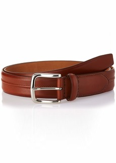 Cole Haan Men's 35mm Burnished Leather Belt with Pinched Seam Detail