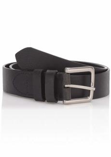 Cole Haan Men's 35mm Cut Edge Belt with Double Loop Keeper black/tumbled nickel