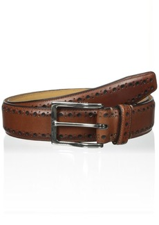 Cole Haan Men's 35mm Feather Edge Stitched Belt with Perforated Detail