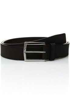 Cole Haan Men's 35mm Flat Strap with Stitched Contrast Color Edge and Lining Belt