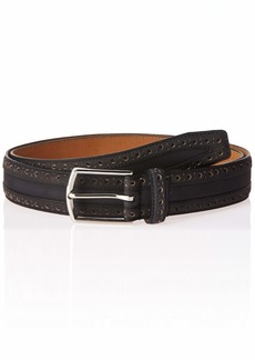 Cole Haan Men's 35mm Nubuck Leather Belt with Perforated Detail