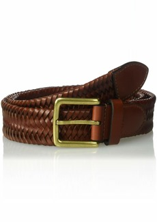 Cole Haan Men's 35mm Woven Stretch Leather Belt British tan
