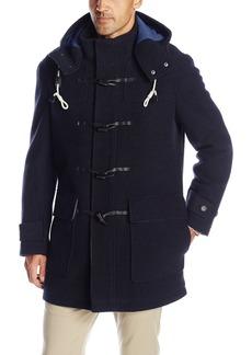 Cole Haan Men's Boiled Wool Toggle Duffle Coat