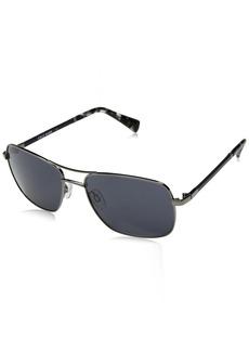 Cole Haan Men's Ch6001 Metal Navigator Aviator Sunglasses