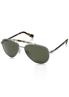 Cole Haan Men's Ch6002s CH60025914033 Aviator Sunglasses LIGHT GUNMETAL 59 mm