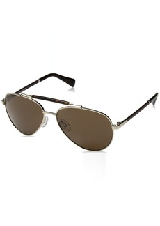 Cole Haan Men's Ch6002s CH60025914717 Aviator Sunglasses GOLD 59 mm