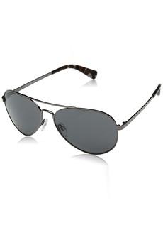 Cole Haan Men's Ch6007 Metal Aviator Sunglasses  58 mm