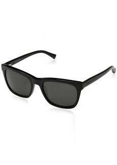 Cole Haan Men's Ch6009 Plastic Square Sunglasses  55 mm