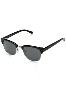 Cole Haan Men's Ch6011 Clubmaster Oval Sunglasses  50 mm