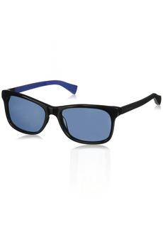 Cole Haan Men's Ch6018 Plastic Square Sunglasses  55 mm