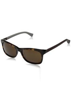Cole Haan Men's Ch6018 Plastic Square Sunglasses