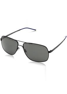 Cole Haan Men's Ch6019 Metal Navigator Aviator Sunglasses