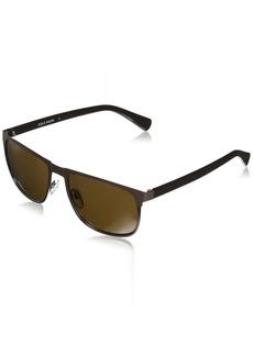 Cole Haan Men's Ch6034 Metal Rectangular Sunglasses