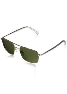Cole Haan Men's Ch6035 Metal Navigator Aviator Sunglasses