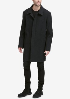 Cole Haan Men's Classic Tumbled Coat with Hidden Placket