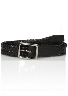 Cole Haan Men's Cole Haan 32mm Tubular Woven Leather Belt black Polished Nickel