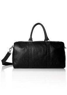 Cole Haan Men's Pebble-Leather Duffle Bag Black