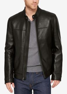 Cole Haan Men's Leather Moto Jacket