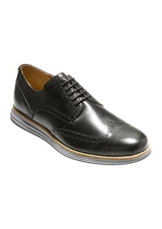 Cole Haan Men's Original Grand Leather Wing-Tip Oxford  Black