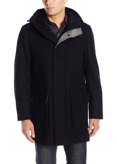 Cole Haan Men's Pressed Wool Duffle with Tech Details